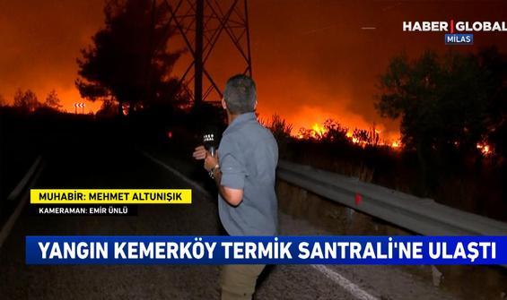 Haber Global canlı yayınında Termik Santralinde küçük bir patlama meydana geldi