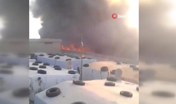 Suriyeli mültecilerin kaldığı kampta yangın çıktı