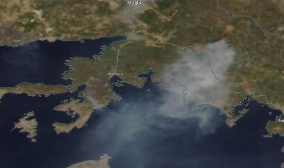 Muğla'daki yangınların dumanları Rodos'a ulaştı
