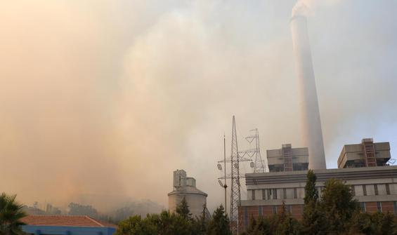 Milas'ta zor gece... Termik santraldeki yangın 11 saat sürdü