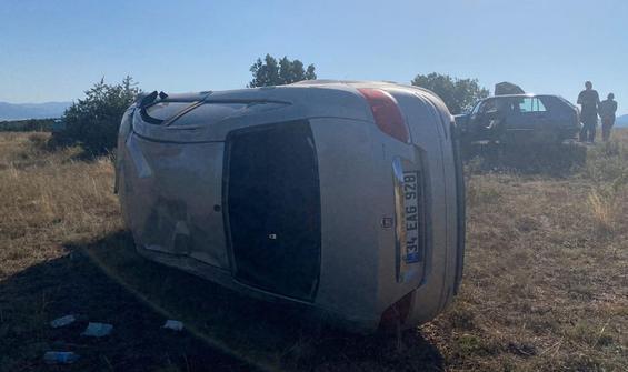 Feci kaza! Otomobil yoldan çıktı: 5 yaralı