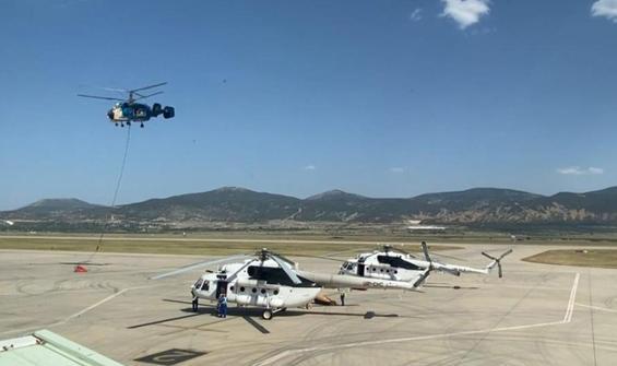 Ukrayna'dan gelen helikopterler gece görevine hazır