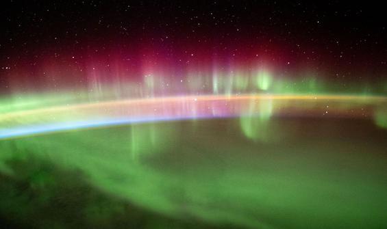 Uzaydan kuzey ışıkları böyle görüntülendi