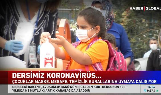 Öğrencilerin virüs sınavı