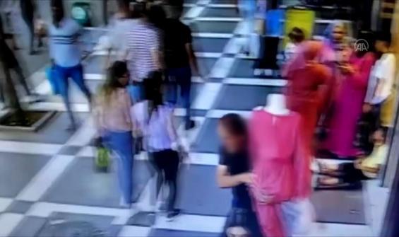 Cansız mankeni kucaklayarak çalan hırsız kamerada