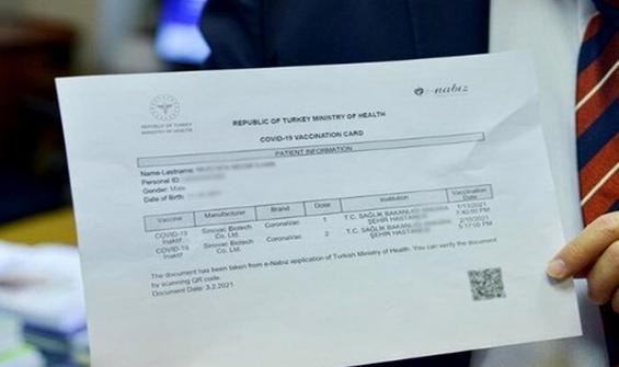 Sahte aşı kartı skandalında yeni detay!
