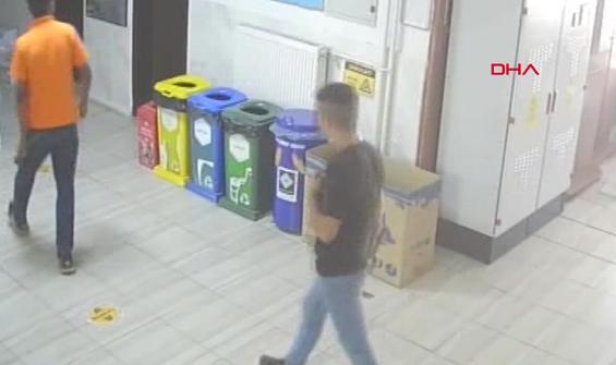 Okulu soyan hırsızlar önce kameraya sonra polise yakalandı