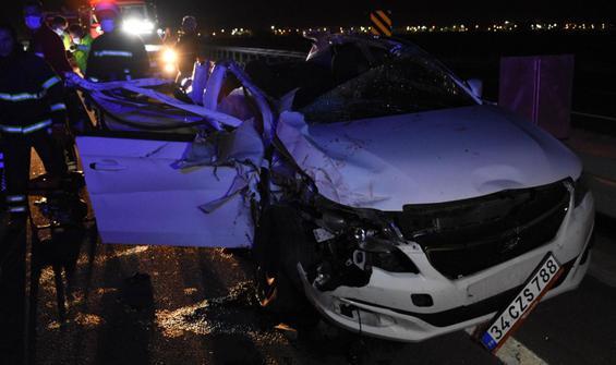 Düğün yolunda korkunç kaza: 2 ölü, 4 yaralı