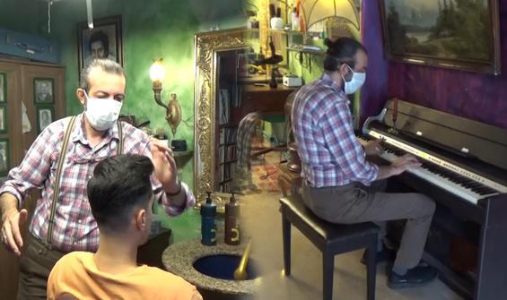 Dünyanın en sanatsal berber dükkanı Tokat'ta