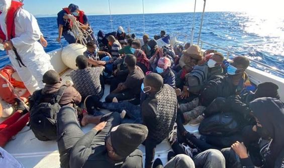 Muğla açıklarında 134 göçmen kurtarıldı