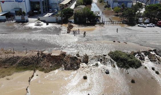 İSKİ'ye ait ana su borusu patladı
