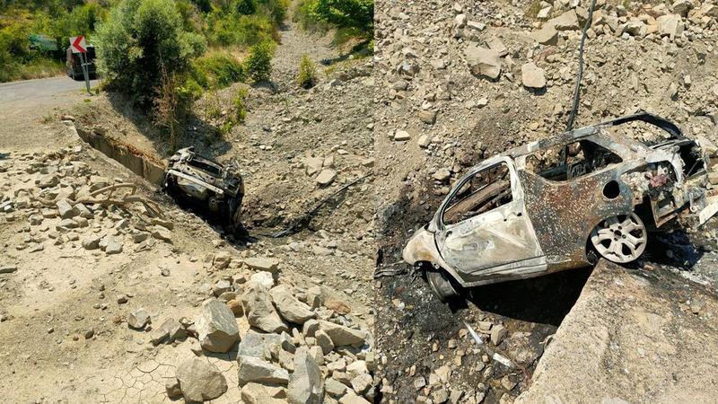 Tekirdağ'da korkutan olay! 2 araç alev alev yandı
