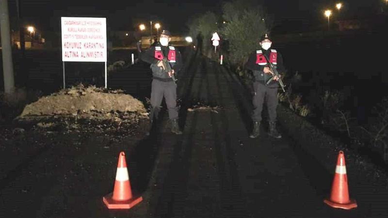 Artan vakalar nedeniyle bir köy daha karantinaya alındı