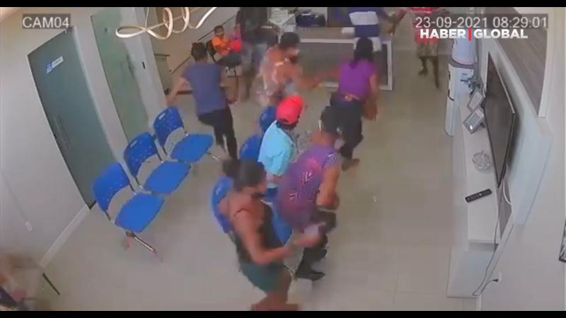 Klinikte cinayet anında yaşanan panik kameralara yansıdı