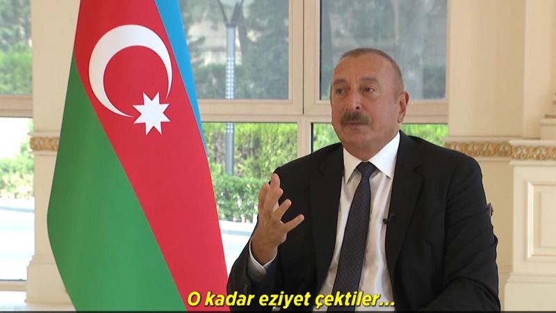 İlham Aliyev'in duygulu anları