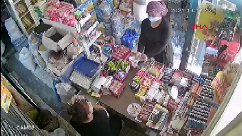 Tırnakçılık yapan kadını market sahibinin dikkati ortaya çıkardı