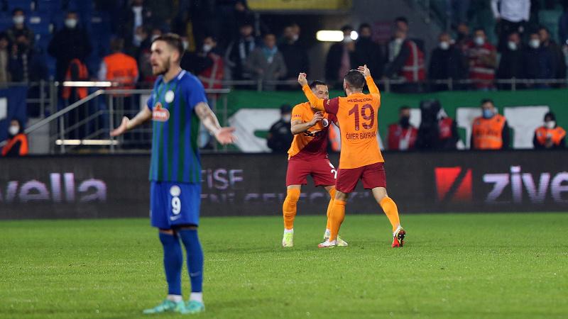 Galatasaray, Rize'de 90+11'de gelen golle kazandı
