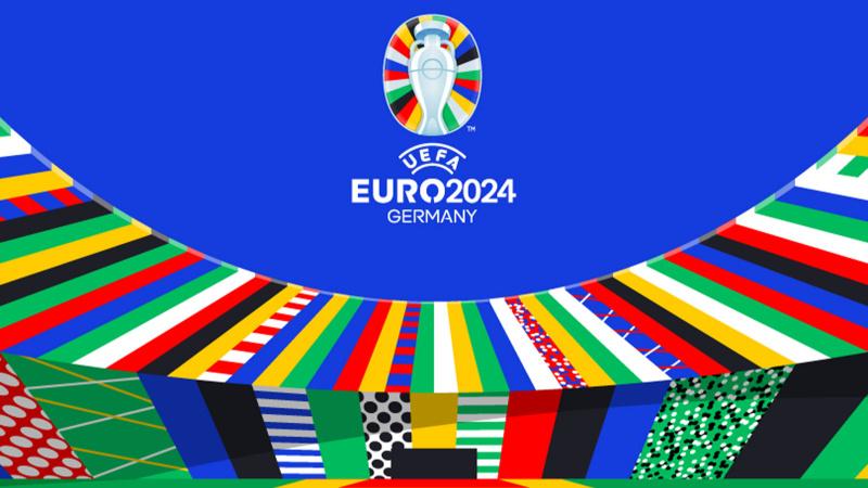 UEFA EURO 2024 logosuna renkli tanıtım