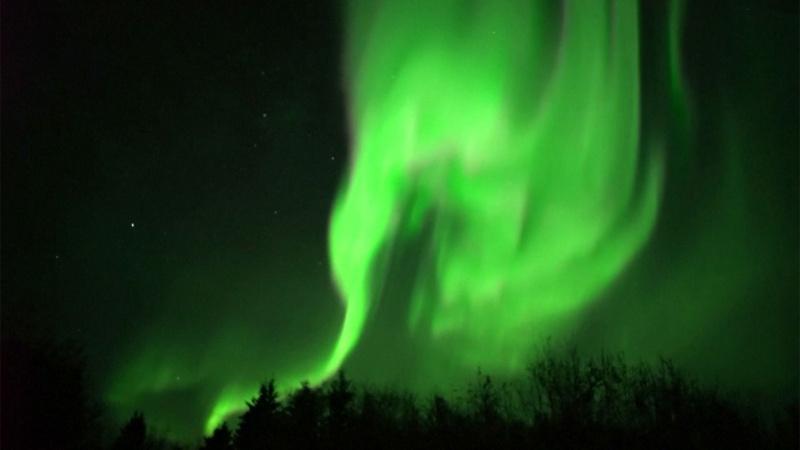 Kuzey ışıklarının hayran bırakan dansı böyle görüntülendi