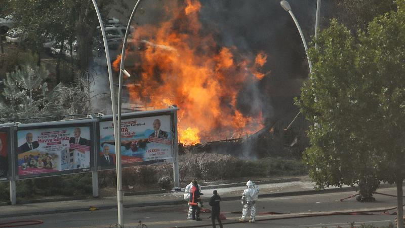 Ankara'da MTA bahçesinde şiddetli patlama ve yangın