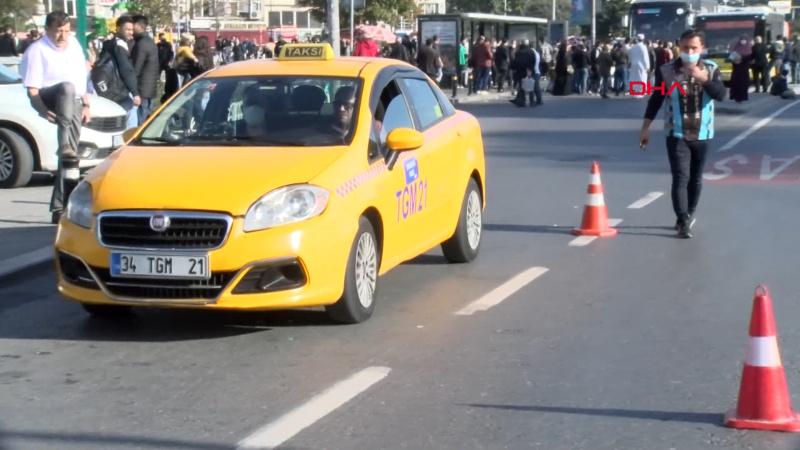 Yolcu seçen taksici trafiği suçladı