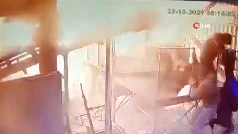 Barut deposundaki patlama anbean kamerada