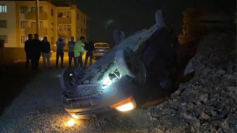 Polisten kaçarken araçları takla atan 3 şahıs kayıplara karıştı!