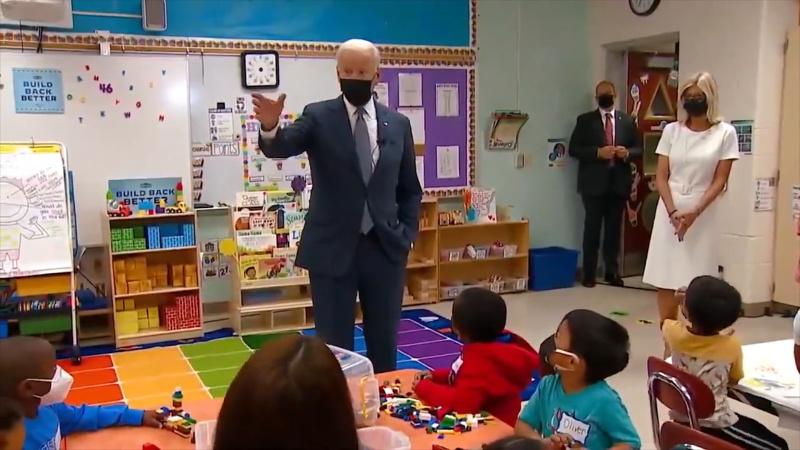Biden'dan ilkokul çocuklarına gazeteci şakası