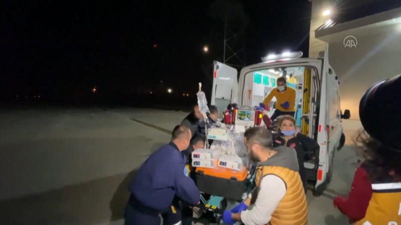 Polis helikopteri yeni dünyaya gelen bebek için havalandı