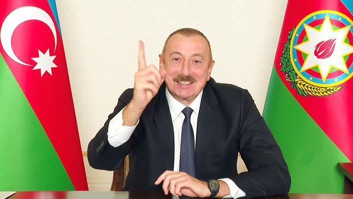 Zaferin ardından Aliyev: Ağdam'ı bir kurşun atmadan aldık!