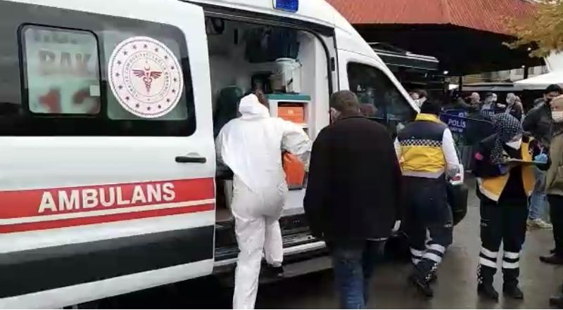 Karantinada olması gerekirken pazar yeri girişinde yakalandı