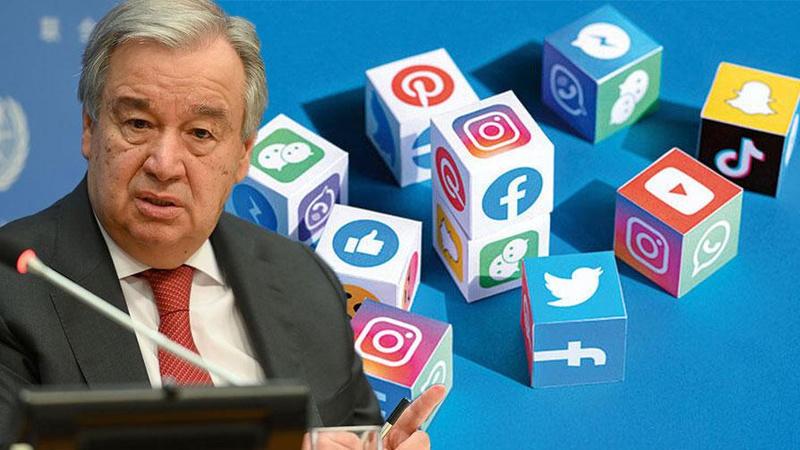 BM Genel Sekreteri sosyal medya şirketlerini hedef aldı