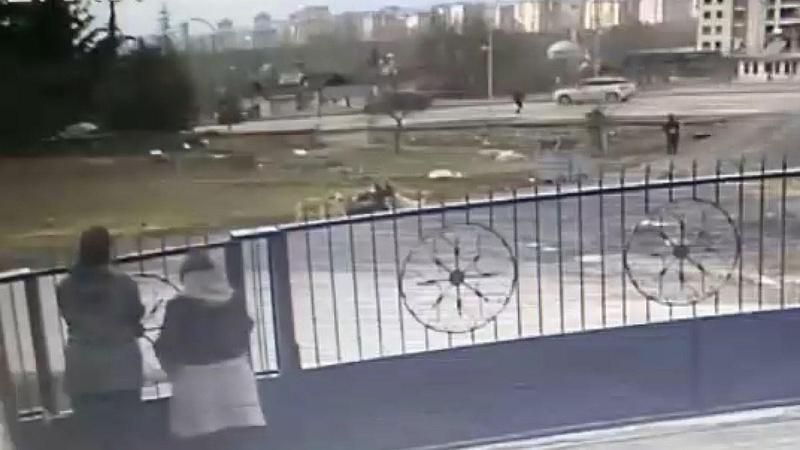 Dehşete düşüren görüntü! 8 sokak köpeği kadına saldırdı