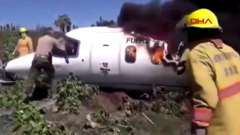 Learjet 45 tipi askeri uçak düştü! 6 ölü