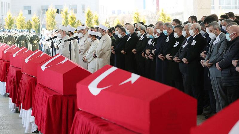 Ankara'da Bitlis şehitleri için devlet töreni