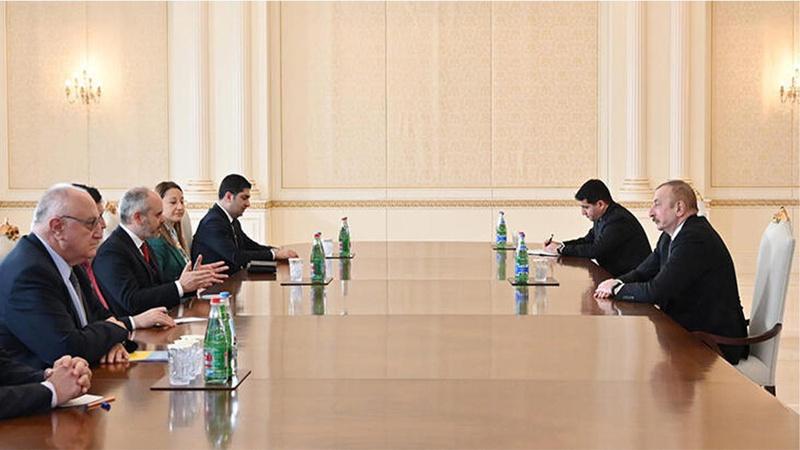 Aliyev, TBMM Dışişleri Komisyonu heyetini kabul etti
