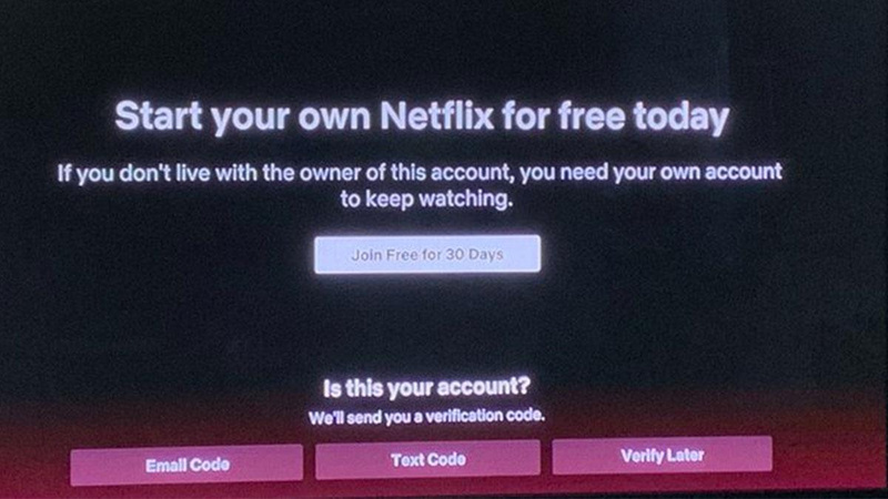 Netflix'ten ortak şifre kullanımına karşı önlem