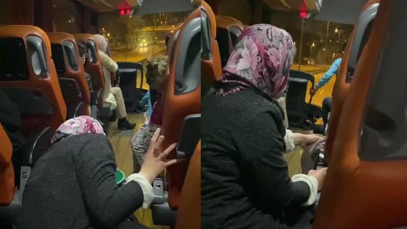Şehirlerarası yolcu otobüsünde skandal olay!