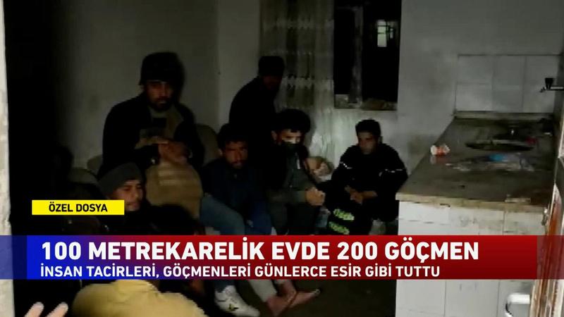 100 metrekarelik evde 200 göçmen!