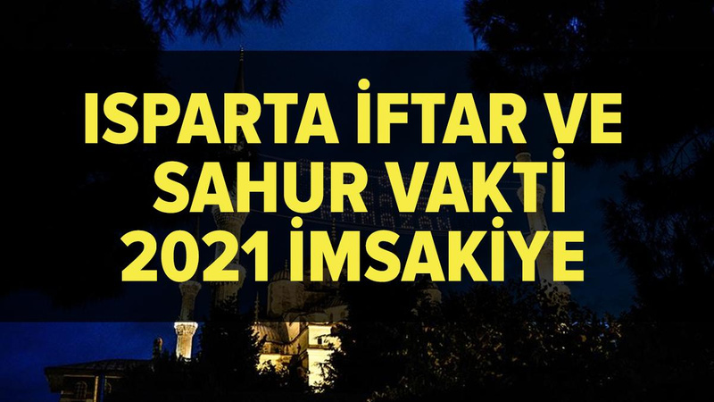 Isparta imsakiye 2021