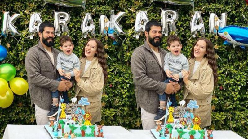 Ünlü çiftin oğlu Karan 2 yaşında