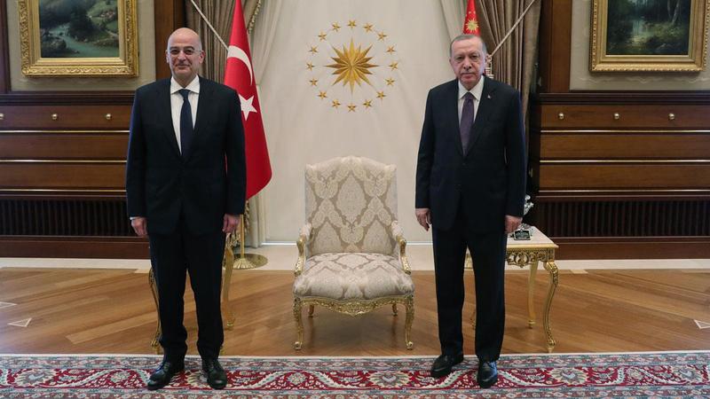 Cumhurbaşkanı Erdoğan, Dendias'ı kabul etti