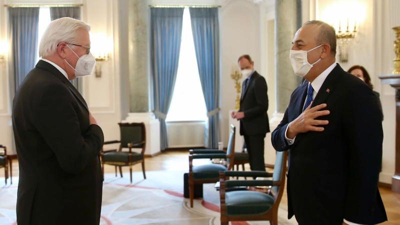 Bakan Çavuşoğlu, Almanya Cumhurbaşkanı ile görüştü
