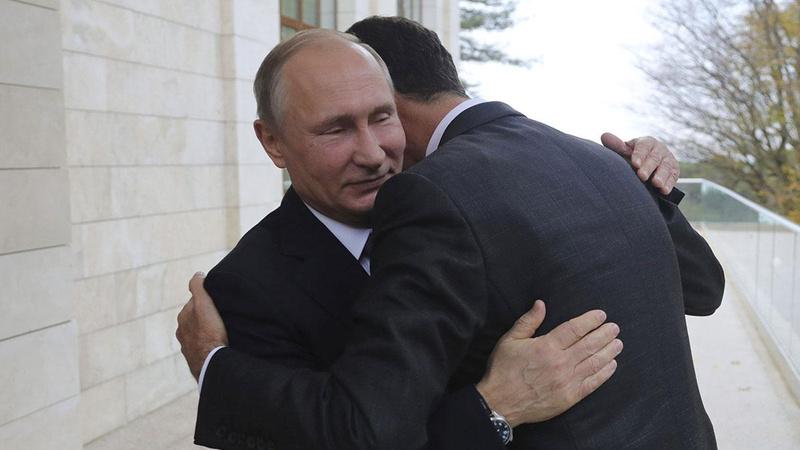 Tepki yağan Esad'a Putin'den tebrik!