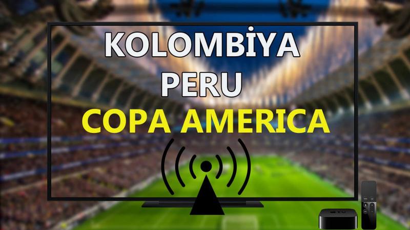Kolombiya Peru maçı CANLI İZLE - Copa America