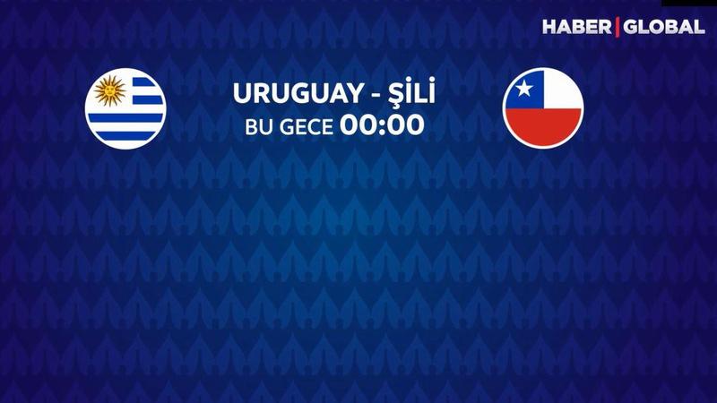 Uruguay - Şili maçı Haber Global'de