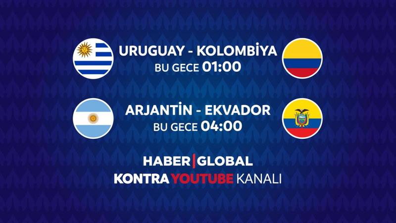 Uruguay - Kolombiya maçı Haber Global'de