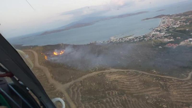 Avşa Adası'nda korkutan yangın