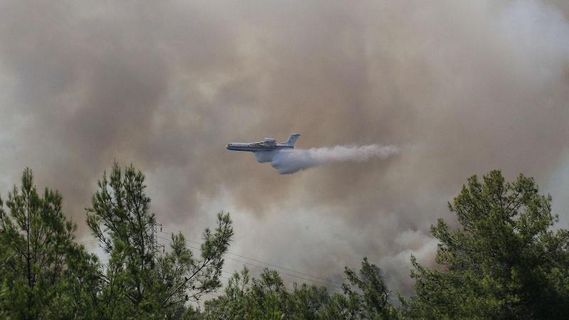 Yunanistan'da yangın alarmı! Uyarı seviyesi yükseltildi