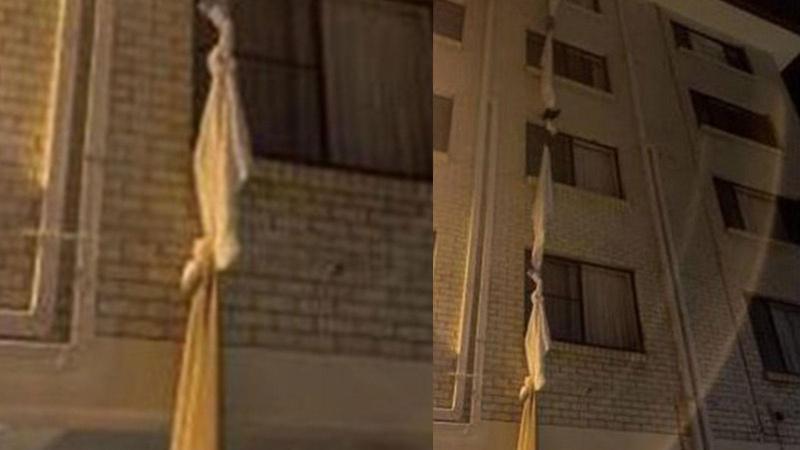 Otel karantinasından böyle kaçtı